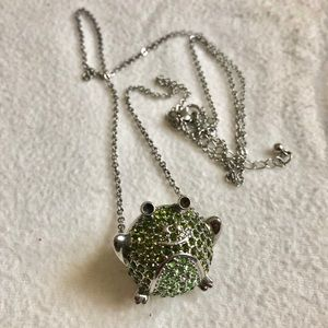 Accessories - Rhinestone frog necklace